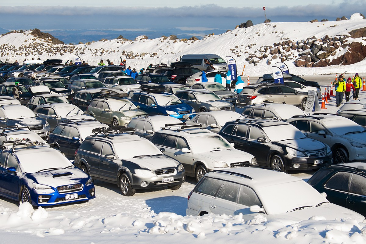 Subaru Top Weekend carpark 2015
