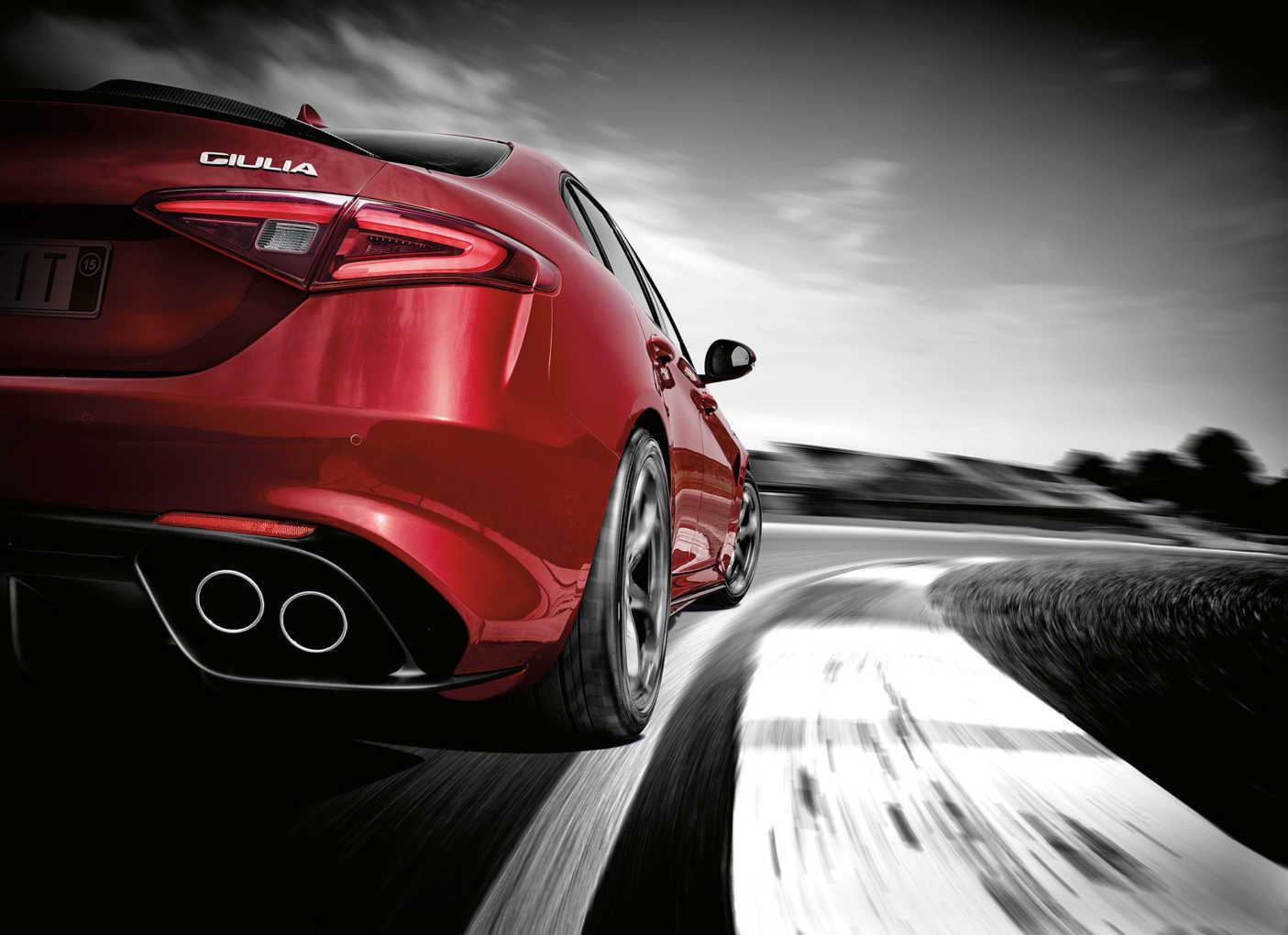 Alfa Romeo Giulia rear quarter