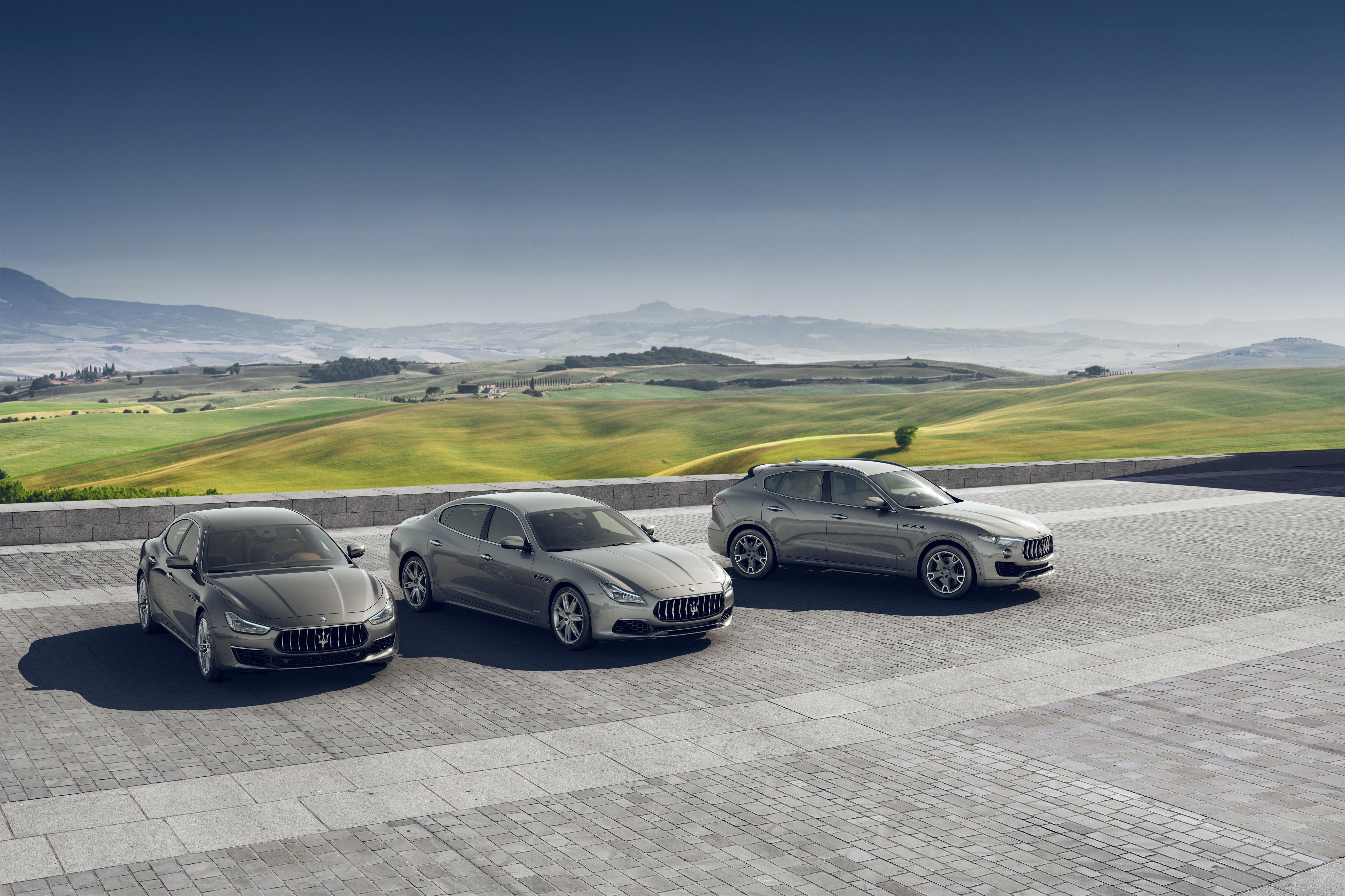 Maserati range shot - Ghibli, Quatroporte, Levante